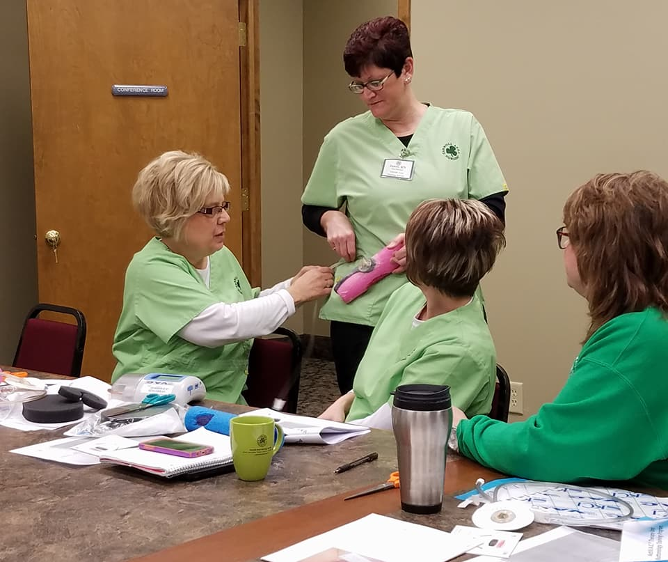 wound vac training at carroll area nursing service